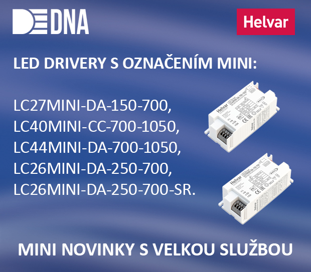 Nové MINI LED drivery od Helvaru